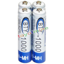 4x AAA battery batteries Bulk Nickel Hydride Rechargeable NI-MH 1000mAh 1.2V BTY