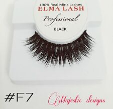 3D Sofisticated Real Mink Eyelashes Makeup Thick Black Eye Lashes #F7