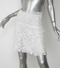 ERMANNO SCERVINO Womens Classic White Floral Lace A-Line Skirt 42/S NEW