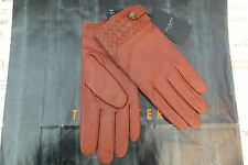 TED BAKER Glove Exquisite HANDWEV Tan Soft Woven Leather Gloves BNWT RRP£79