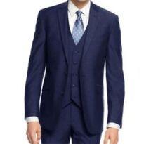Braveman Men's 3 Piece Slim Fit Suit London Blue - Size: 36Rx30W