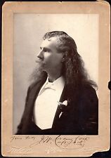 c.1880 Captain Jack Crawford ~ Autographed Photograph By Taber ~ Wild West Show
