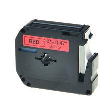 1PC Schriftband für Brother Schwarz auf Rot MK431 M-K431 M431 12mm P-touch 100