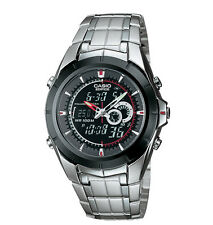 Casio EFA119BK-1AV, Edifice Watch, Analog/Digital, Thermometer, Day/Date, Alarm