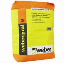 Weber Pral M Decorative One Coat Ready Mixed Render - Ivory Colour 20 Bag Deal
