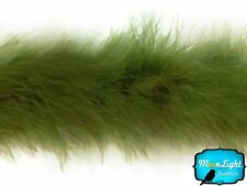 Feather Boa, Moss Green Marabou Feather Boa, 2 Yards
