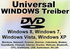 Universal PC-, Laptop- und Notebook Treiber für Windows XP Vista 7 8 (32/64) NEU