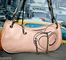 REALLY CUTE AUTHENTIC JUICY COUTURE BABY PINK LEATHER CHAIN SWEETHEART HANDBAG