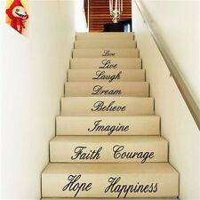 Love Live Laugh Stairs Wall Art Quote Removable Stickers Vinyl Decals Home Decor