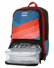 NEW BILLABONG 'JUGGERNAUGHT' BOYS BACKPACK SCHOOL BAG + LUNCH BOX 29L OVERCAST