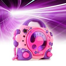Karaoke Children Radio sing a long portable Music System CD Player + 2