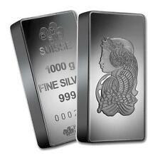 One piece 1 kilo 0.999 Fine Silver Bar Pamp Suisse Fortuna Lot 7168