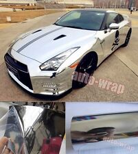 "Bidding- 12"" x 60"" Car Glossy Chrome Mirror Vinyl Wrap Sticker Film Sheet Silver"