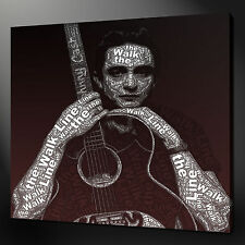 "JOHNNY CASH MUSIC ICON CANVAS WALL ART PICTURES PRINTS 20"" X 20"" FREE UK P&P"