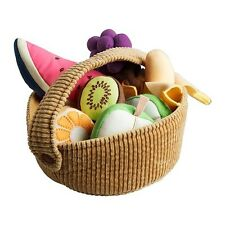 Ikea DUKTIG Fruit Basket Set - Soft Toy, 9-piece