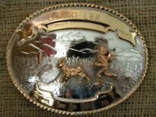 COMSTOCK GERMAN SILVER SILVERSMITHS  BELT BUCKLE RODEO 1979