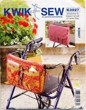 KWIK SEW SEWING PATTERN 3927 WHEELCHAIR & WALKER CARRYALL/CADDY & CARRIER BAG