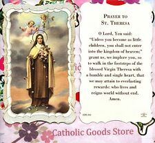 St Therese/Theresa the Little Flower - Scalloped trim - Paperstock Holy Card