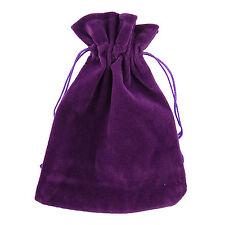 10 Viola Velluto gioielli con cordino REGALO BUSTE 10x13cm