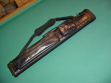 SUPER NICE ALL BLACK 2X4 CUE CASE SAVE $$ pool billiards CARLSCUES EBAY B02-2817