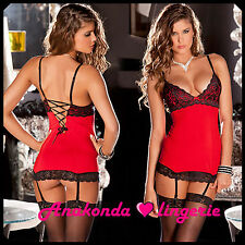 Lori Sexy SLEEPWEAR Lingerie Sex Toy Woman Lace RED Dress HOT Swing Club Hotwife