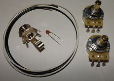 Precision P Bass Guitar Wiring Kit CTS 250K Solid Pots .047 Ceramic Disc Cap