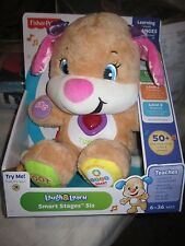 Fisher-Price Laugh and Learn Puppy's Smart Stages Sis 50 songs teaching plush
