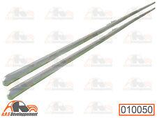 2 Baguettes porte AR aluminium NEUVES avec agrafes pour Citroen 2CV  -10051-
