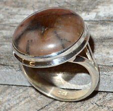 Chiastolite 925 Sterling Silver Ring Jewelry s.9.5 JJ3847