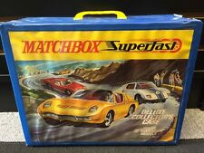 VINTAGE 1970 MATCHBOX SUPERFAST DELUXE COLLECTORS CASE, holds 72 cars . Ex Shape