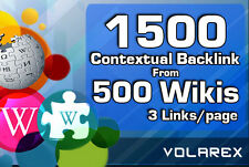 do 1500 contextual backlinks from 500 WIKI pages including real seo edu
