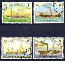 Bateaux St Thomas et prince (66) série complète de 4 timbres oblitérés