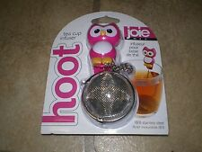 Joie Pink Owl Hoot Stainless Steel Tea Cup Infuser NEW