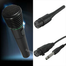 2in1 Pro Microphone Wireless Wired Handheld Cordless Mic For Karaoke Singing DJ