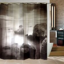 Castle in the Sky Bathroom Fabric Shower Curtain Free 12 Hooks New Home Decor
