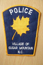 Patches: VILLAGE OF SUGAR MOUNTAIN NC POLICE PATCH(NEW,apx.4.14x3.14 inch)