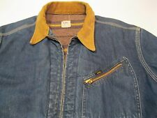VTG Lee 191-LB Union Made Blue Denim Jean Trucker Jacket 44 Long