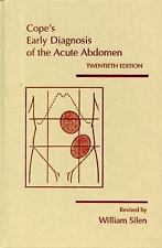 Cope's Early Diagnosis of the Acute Abdomen, Silen, William, Acceptable Book