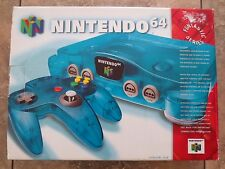 Nintendo 64 Ice Blue Console N64 System Complete in Box CIB