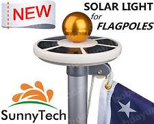 Sunnytech 2015 New 2ND Generation-Solar Flag Pole Flagpole 20LEDs White Light B
