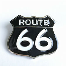 Route 66 US Main Street HWY Road Highway Belt Buckle Muscle Car Biker Cowboy