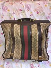 Real Vintage GUCCI Suitcase Garment Bag 70s Era Made in Italy