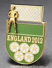 OLYMPIC PINS 2012 LONDON ENGLAND SOCCER FOOTBALL SLIDER SLIDING GOALIE (GOLD)