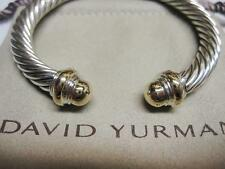 David Yurman 7mm Gold Dome Cable Bracelet with Pouch & Free Shipping