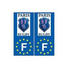 Stade Français Paris rugby F europe autocollant plaque droits