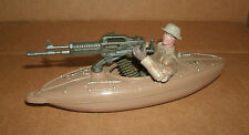 "1/18 Scale Army Kayak Machine Gun Boat Plastic Model + 3.75"" Action Figure SEALs"