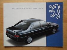 PEUGEOT 605 SV 3.0, DT & TI 1993 orig French Market sales brochure