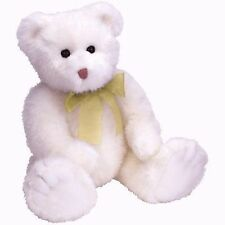Ty Classic Lacey White Bear with Gold Ribbon NWT 10""