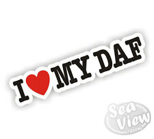 I Heart Love my DAF Lorry Truck Car Sticker Decal