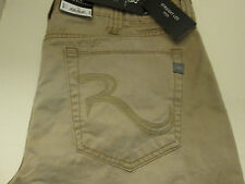 36 X 32 ROCK & REPUBLIC STRAIGHT LEG NEIL JEANS -TAN- NWT